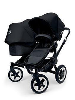 Bugaboo 2015 Donkey Duo Stroller Complete Set in Black on Bl