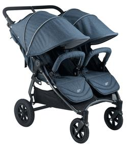 Valco 2016 NEO Twin Stroller in Denim Tailormade Fabric Bran