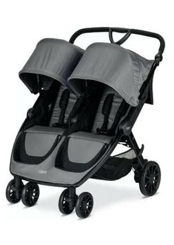 PLEASE READ Britax 2019 B-Lively Double Stroller - Dove Grey