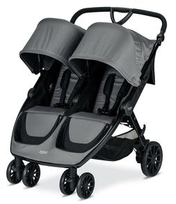 Britax 2019 B-Lively Double Stroller - Dove Grey - Brand New