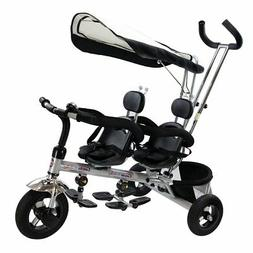 Costzon 4 In 1 Dual Twins Kids Trike Baby Toddler Tricycle S