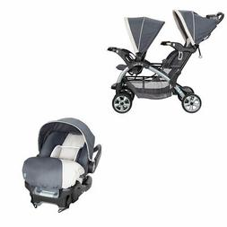 Baby Trend 5 Point Double Stroller & 35 LB Infant Car Seat w