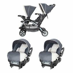 Baby Trend Sit N' Stand Double Stroller and 2 Infant Car Sea