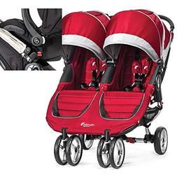 Baby Jogger 12236 City Mini Double Stroller in Crimson-Gray