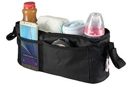 Universal Stroller Organizer Bag By Kidluf - 2 Cup Holders &