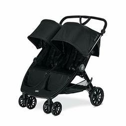 Britax B-Lively Double Stroller, Raven - Quick Self Standing