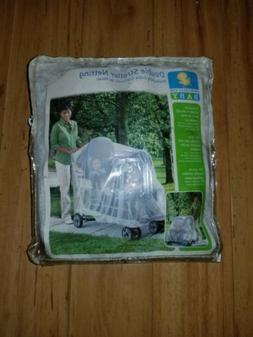Babies  Double Stroller Mosquito Protecting Netting White