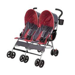 Baby Stroller Deigned Safety Side by Side with Large Canopy
