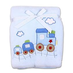 Spasilk Baby-Boys Newborn Extra Thick Plush Blanket with Sat