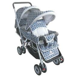 black deluxe double stroller lightweight