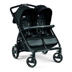 Peg Perego Book for Two Double Stroller in Onyx Black **FREE