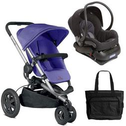 Quinny Buzz Xtra Travel System in Purple with Diaper Bag