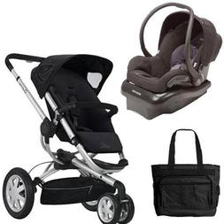 Quinny BUZZ3TRVSTM Buzz 3 Travel System in Black with Diaper