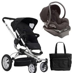 Quinny BUZZ4TRVSTM Buzz 4 Travel System in Black with a Diap