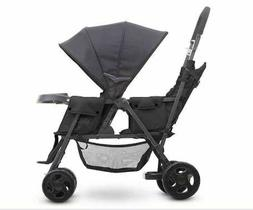 Joovy Caboose Too Graphite Stand-On Tandem Stroller in Black