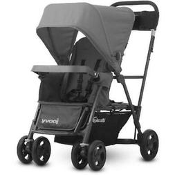 Joovy Caboose Ultralight Sit and Stand Double Stroller, Gray