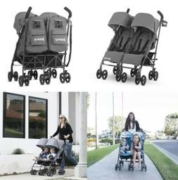 Charcoal Twin Groove Ultralight Umbrella Stroller New Open B
