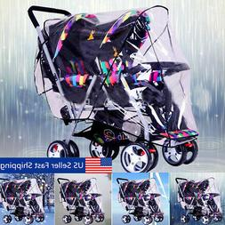 Clear Chic Stroller Rain Cover Pram Baby Infant Double Pushc