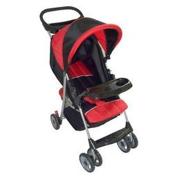 Amoroso Convenient Baby Stroller, Black/Red