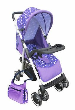 AmorosO Convenient Stroller with Diaper Bag, Purple