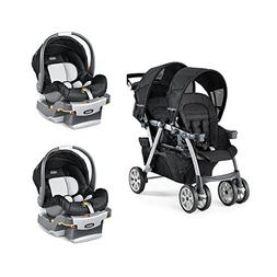 Chicco Cortina Together Travel System Double Stroller + KeyF