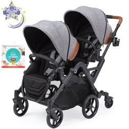 Contours Curve Reversible Seat Twin Double Baby Stroller Gra