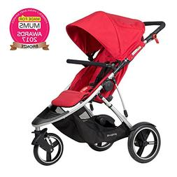 phil&teds Dash Inline Stroller, Red