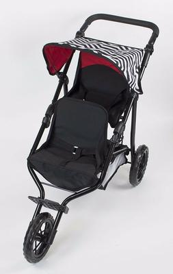 Deluxe Double Jogger Doll Twin Stroller Adjustable Handle Fo