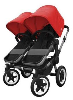 Bugaboo Donkey Complete Twin Stroller - Red - Black/Black