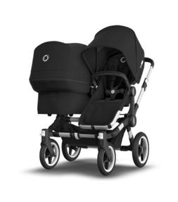 Bugaboo Donkey Duo Double Seat Stroller Black with Travel Ca
