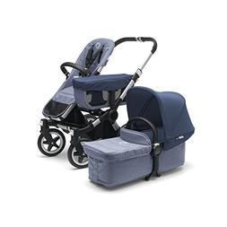 Classic Alu//Grey Melange Bugaboo Donkey2 Complete Mono Stroller the Most Spacious Foldable Stroller with the Option to Expand to a Double