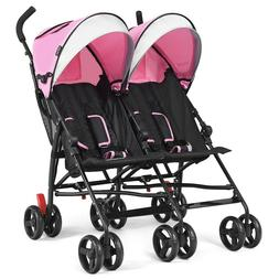 Baby Stroller Double Twin Ultra Light Weight Umbrella Foldin