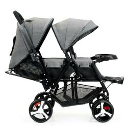 double bay stroller curve double tandem stroller