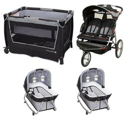 Baby Trend Double Jogger Combo Stroller & Twins Playard with