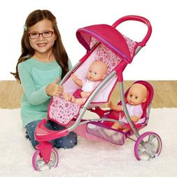 double jogger stroller for baby dolls 1