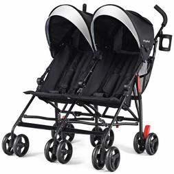 Double Light-Weight Stroller, Travel Foldable Design, Twin U