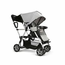 Double Stroller Convenience Urban Twin Carriage Stroller Tan
