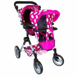 "Lissi Doll Double Stroller FITS 2 Dolls UP to 18"" Color: Pin"