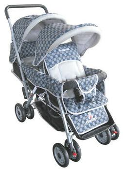 Double stroller Tandem style With 2 canopies