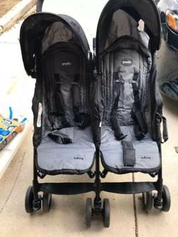 Chicco Echo Twin Baby Double stroller Coal NEW 2017