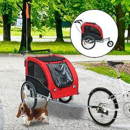 Elite II Large Bicycle Carrier Double Pet Dog Bike Trailer J