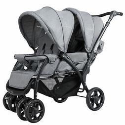 Foldable Double Baby Stroller Lightweight Front & Back Seats