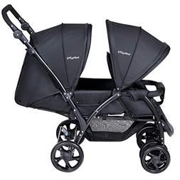 BABY JOY Foldable Double Seat Baby Stroller, Heavy Duty Cons