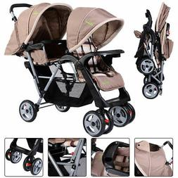 Foldable Twin Baby Double Stroller Kids Jogger Travel Infant