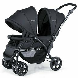 Foldable Twin Baby Double Stroller Lightweight Travel Stroll