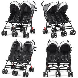 Foldable Twin Baby Double Stroller Ultralight Umbrella Kids