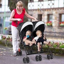 Twins Infant Baby Double Stroller Ultralight Umbrella Stroll