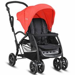 Folding Baby Sit and Stand Ultra Tandem Stroller Pushchair D