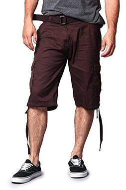 G-Style USA Men's Ripstop Belted Cargo Shorts 9AP30 - Solid