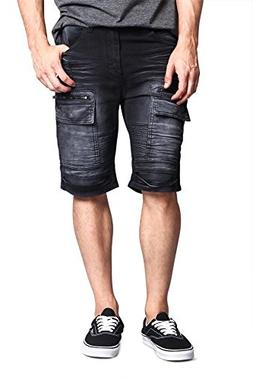 Victorious G-Style USA Men's Washed Zipper Cut Cargo Pocket